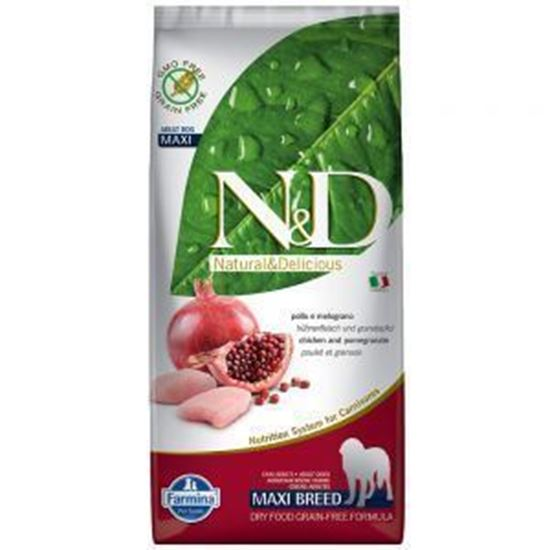 N&D DOG  GRAIN FREE Adult Maxi Pollo e Melograno 12Kg