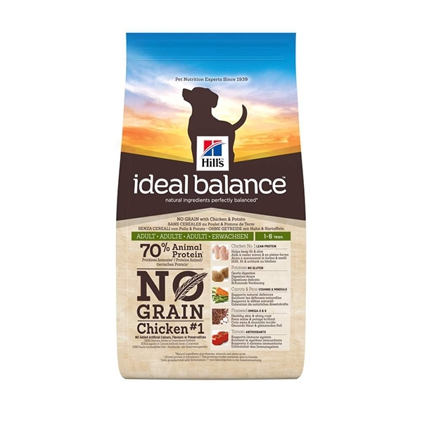 Ideal Balance Adult No Grain Pollo & Patate  12kg
