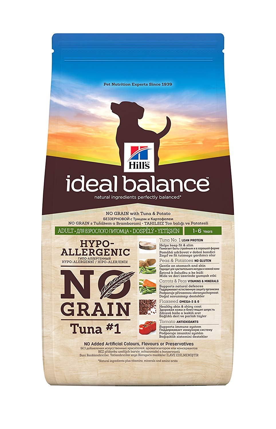 Ideal Balance Adult No Grain Tonno e Patate  12kg
