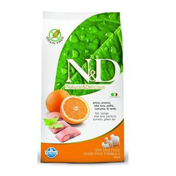 N&D DOG GRAIN FREE  Adult Maxi Pesce e Arancia 12kg