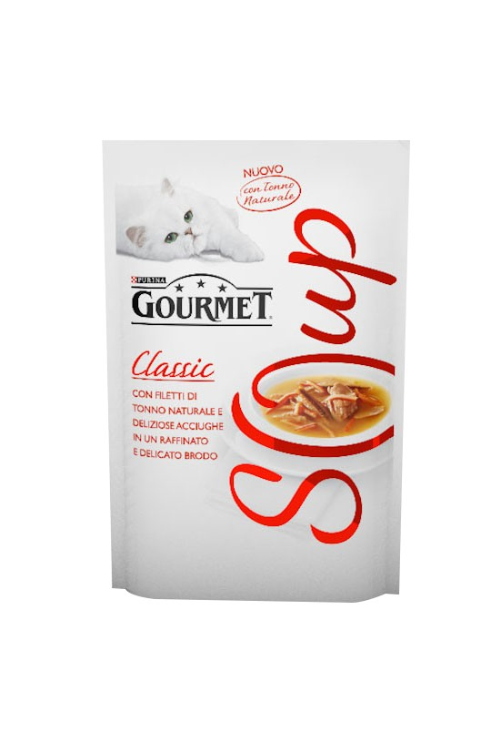 GOURMET CRYSTAL SOUP TONNO&ACCIUGHE 40gr