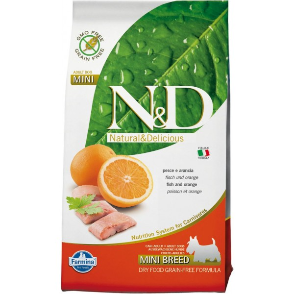 N&D DOG  GRAIN FREE Pesce e Arancia Adult Mini kg.2,5