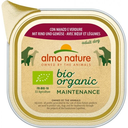 Almo Bio Organic con Pollo e Manzo  375 g