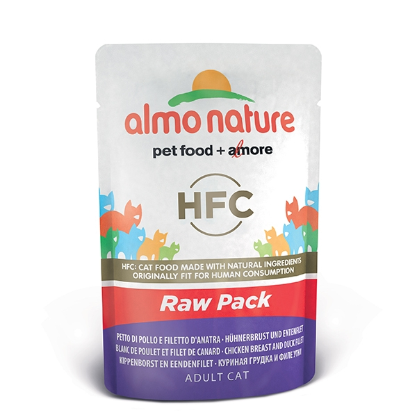Almo Raw Pack - Petto di Pollo e Filetto d' Anatra  55 g
