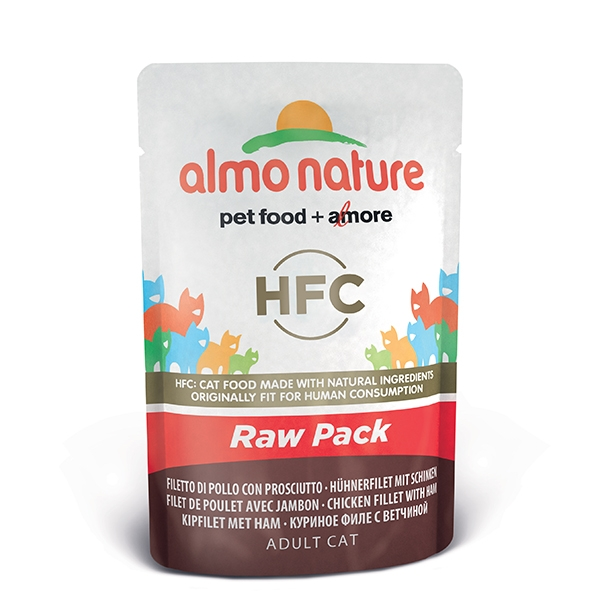 Almo Raw Pack - Filetto di Pollo e Prosciutto  55 g