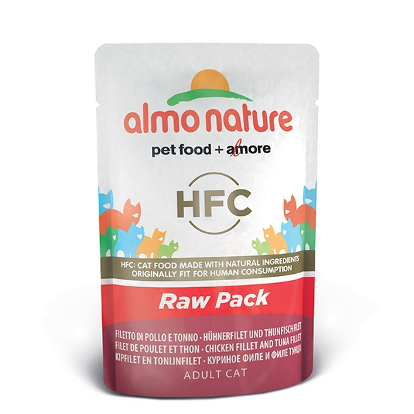 Almo Raw Pack - Filetti di Pollo e Tonno  55 g