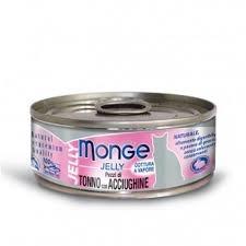 Monge Gatto Jelly Pezzi di Tonno e Acciughine 80 gr