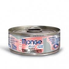 Monge Gatto Jelly Pezzi di Tonno e Gamberetti 80 gr