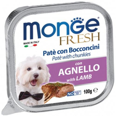 Monge Fresh Cane Agnello 100 gr