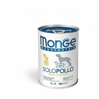 Monge Cane Solo Pollo 400 gr