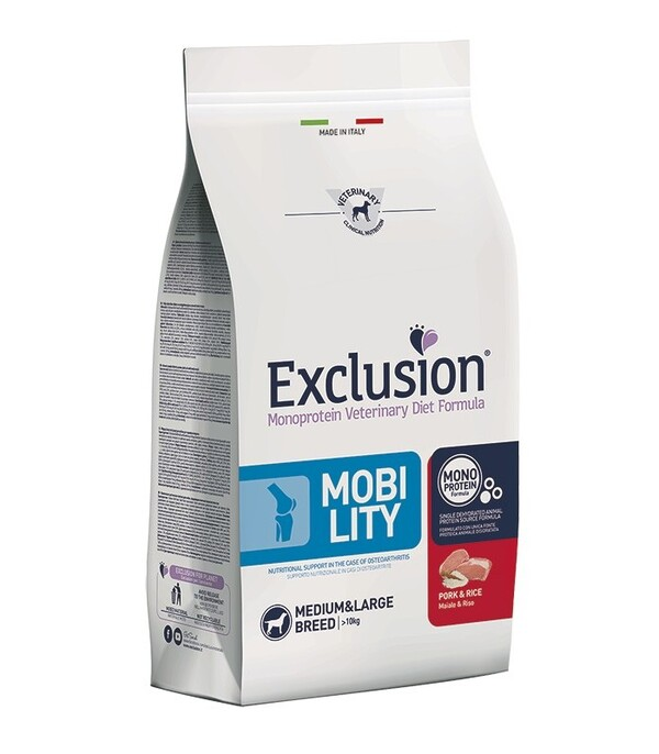 Exclusion diet  mobility maiale e riso medium large 12 kg