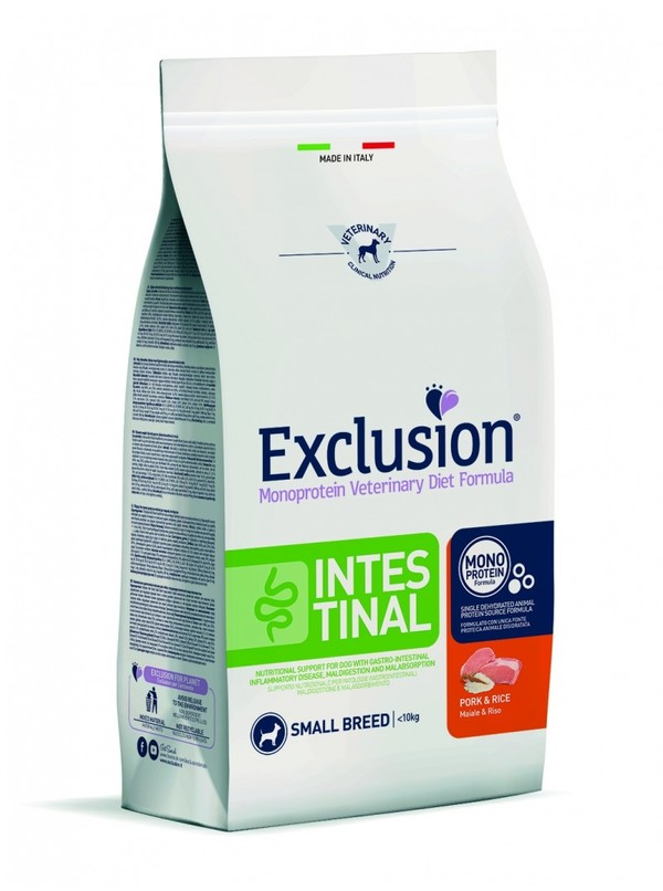 Exclusion Diet Intestinal Small Breed Maiale e Riso 800 gr