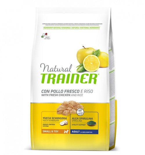 Trainer Natural Dog  Small & Toy Pollo e Riso	2kg