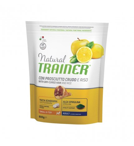 Trainer Natural Dog  Small & Toy  Prosciutto Crudo e Riso	800g