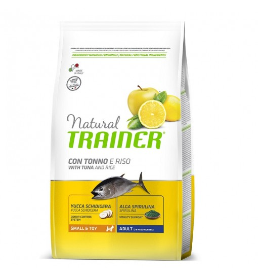 Trainer Natural Dog  Small & Toy Pesce e Riso	800g