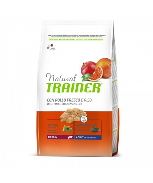 Trainer Natural Dog Medium Adult Pollo Fresco	3kg