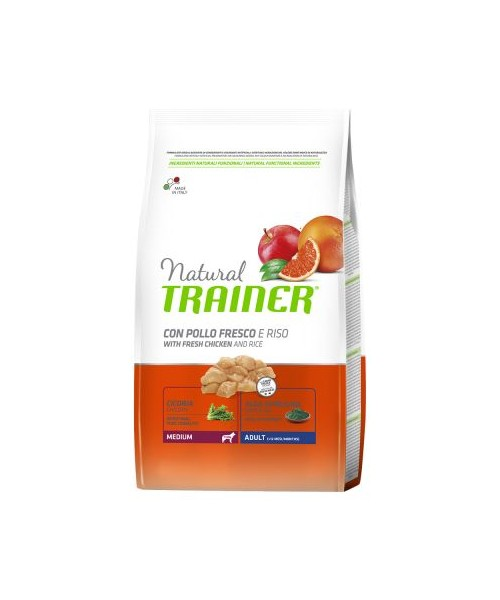 Trainer Natural Dog Medium Adult Pollo Fresco	12kg