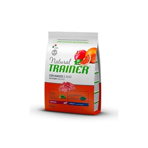 Trainer Natural Dog Medium Adult Manzo e Riso	3kg