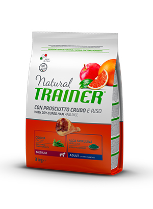 Trainer Natural Dog Medium Adult Prosciutto Crudo e Riso	3kg