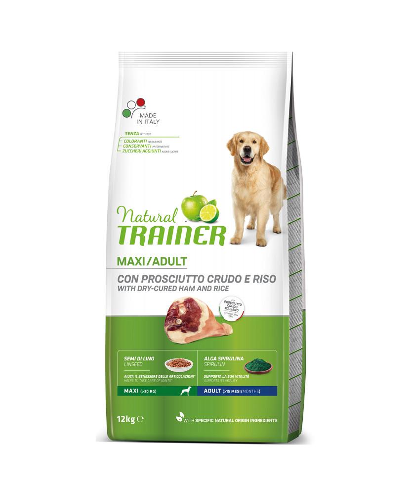 Trainer Natural Dog Maxi  Adult Prosciutto Crudo e Riso12kg