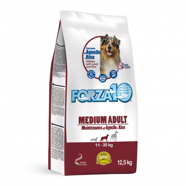 Medium Adult Maintenance Agnello e Riso kg 12,5