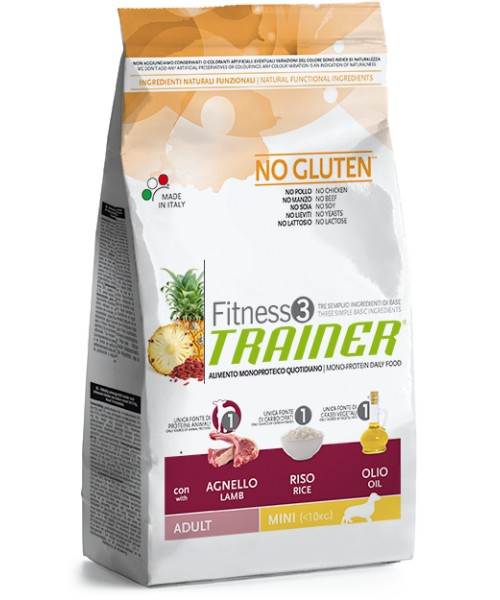 Trainer Fitness3 Adult Mini Agnello & Riso 7,5 kg