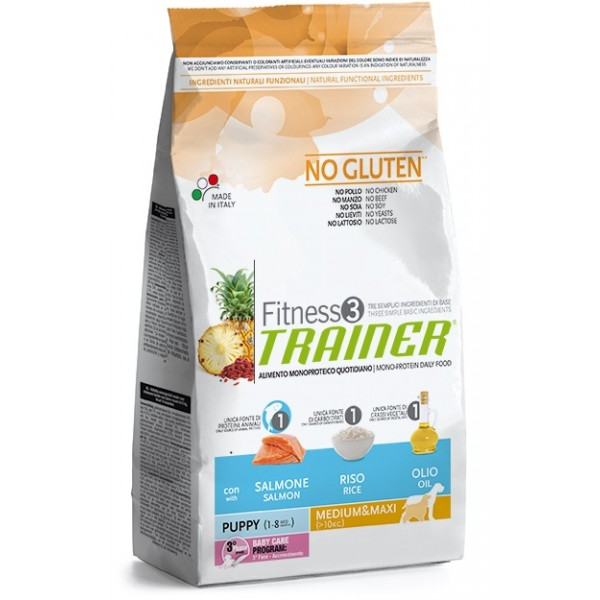 Trainer Fitness3 Puppy M/M Salmon & Rice	12,5 kg