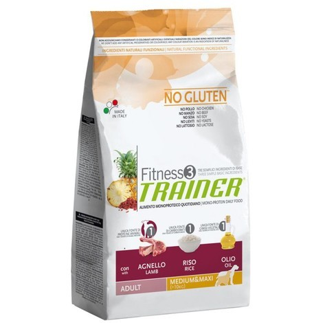 Trainer Fitness3 Adult M/M Lamb & Rice 12,5 kg