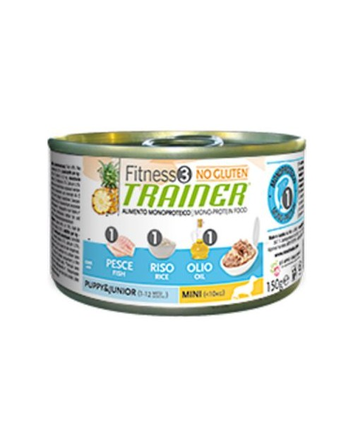 Trainer Fitness3 Dog Puppy & Junior Mini Fish & Rice Lattina	150gr