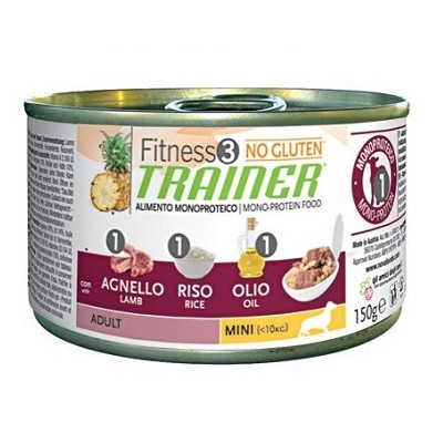 Trainer Fitness3 Dog Adult Mini Lamb & Rice Lattina 150gr