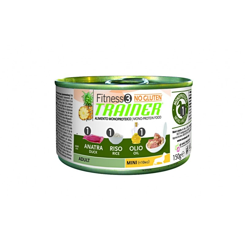 Trainer Fitness3 Dog Adult Mini Duck & Rice Lattina 150gr
