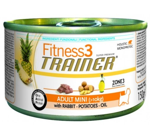 Trainer Fitness3 Dog Adult Mini Rabbit & Potatoes Lattina	150gr