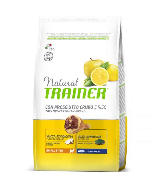 Trainer Natural Dog  Small & Toy  Prosciutto Crudo e Riso	7kg