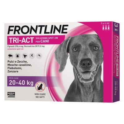 Frotline Tri-Act Spot-On per Cani 20-40kg 3 pipette