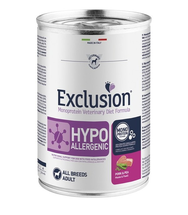 Exclusion Diet Hypoallergenic Maiale e Piselli 400 gr
