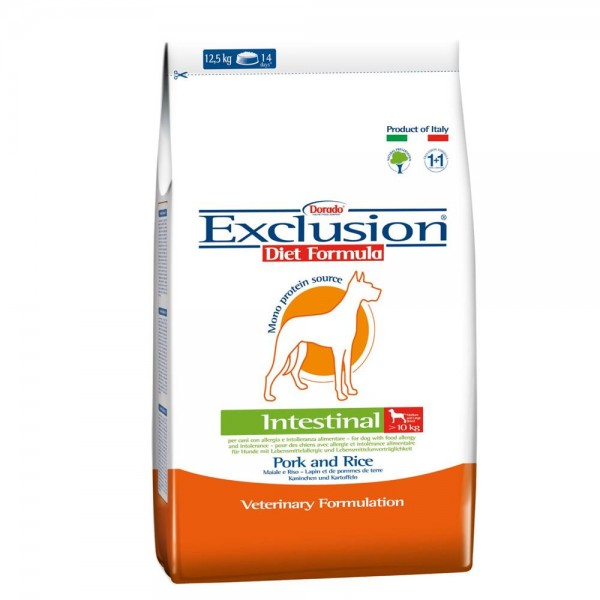 Exclusion Diet Intestinal Medium/Large Breed Maiale e Riso 3 kg