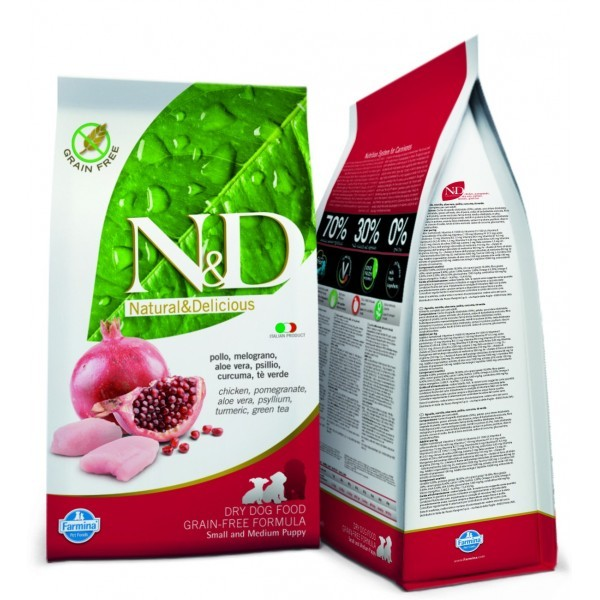N&D  DOG  GRAIN FREE Puppy Pollo e Melograno 12kg