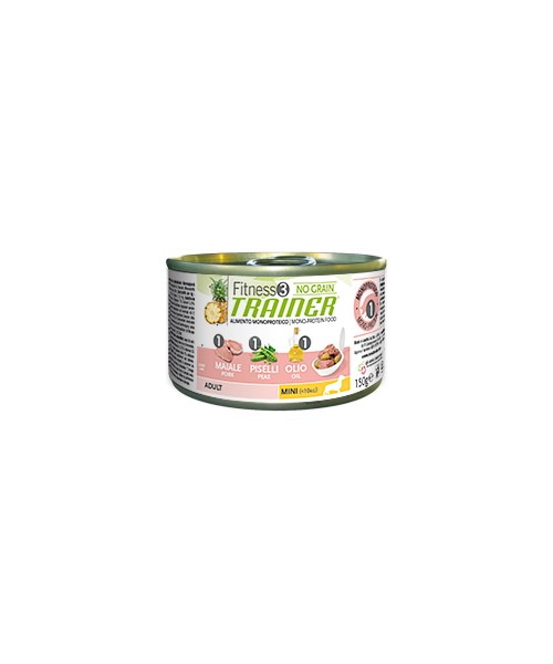 Trainer Fitness3 Dog Adult Mini Pork & Peas Lattina 150gr