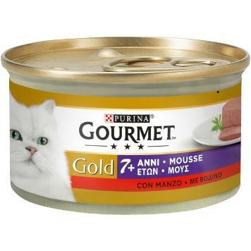GOLD MOUSSE +7ANNI CON MANZO	85gr