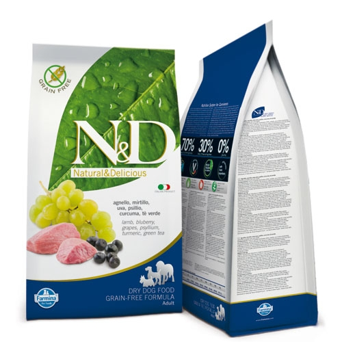N&D Grain Free Adult Medium Agnello e Mirtillo 12 Kg