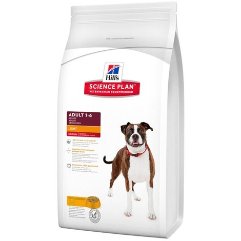 Science Plan Canine Adult Light Pollo 12KG