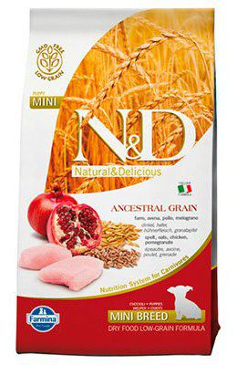 N&D Low Ancestral Grain Puppy Mini Pollo e Melograno 2,5Kg