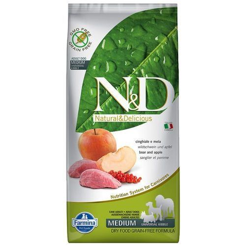 N&D DOG GRAIN FREE  Adult Medium Cinghiale e Mela 12Kg