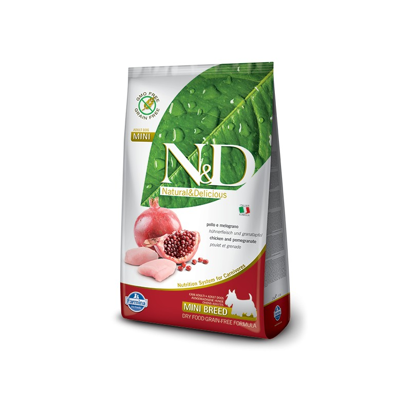 N&D DOG GRAIN FREE Adult Mini Pollo e Melograno 2,5 kg