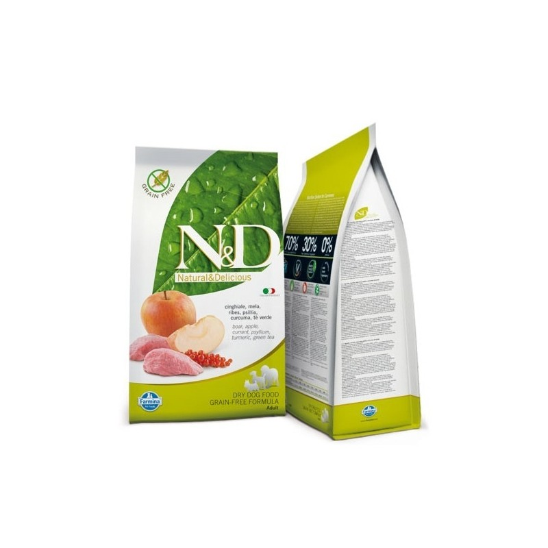 N&D Grain Free Adult Medium Cinghiale e Mela 2,5 kg