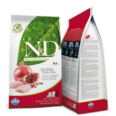 N&D  DOG  GRAIN FREE Pollo e Melograno Puppy Maxi 2,5 kg