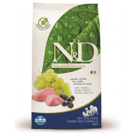 N&D Grain Free Adult Medium Agnello e Mirtillo  2,5 kg
